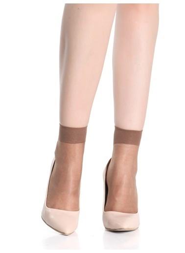 Miorre 4 Çift Likralı Soket Çorap Vizon